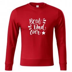 Červená mikina Best dad ever