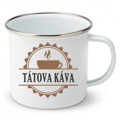 Smaltovaný hrnek Tátova káva