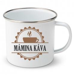 Smaltovaný hrnek Mámina káva