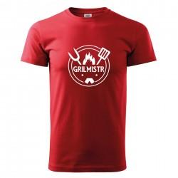 Červené pánské triko Grilmistr