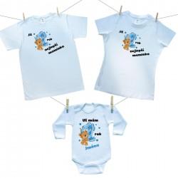 Rodinná sada (body s dlouhým rukávem) Již 1 rok nejlepší rodiče chlapečka se jménem dítěte