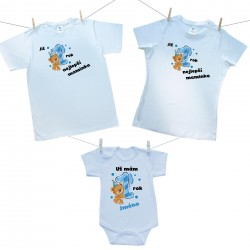 Rodinná sada (body s krátkým rukávem) Již 1 rok nejlepší rodiče chlapečka se jménem dítěte