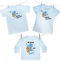 Rodinná sada (tričko s dlouhým rukávem) Již 1 rok nejlepší rodiče chlapečka se jménem dítěte