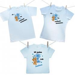 Rodinná sada (tričko s krátkým rukávem) Již 1 rok nejlepší rodiče chlapečka se jménem dítěte