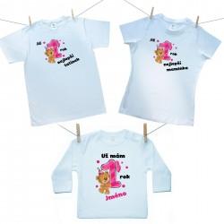 Rodinná sada (tričko s dlouhým rukávem) Již 1 rok nejlepší rodiče holčičky s jménem děťátka
