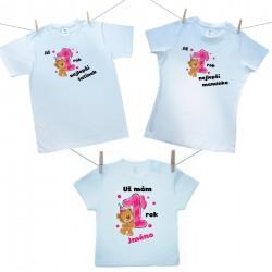 Rodinná sada (tričko s krátkým rukávem) Již 1 rok nejlepší rodiče holčičky s jménem děťátka