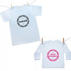 Rodinná sada (tričko s dlouhým rukávem) Biker (otec a dcera)