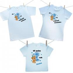Rodinná sada (tričko s krátkým rukávem) Již 1 rok nejlepší rodiče chlapečka s jménem děťátka