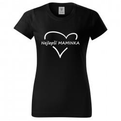 Černé dámské triko Nejlepší maminka