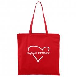 Červená Maxi taška Nejlepší tatínek