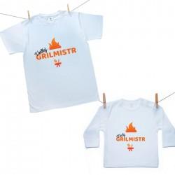 Rodinná sada (tričko s dlouhým rukávem) Velký a malý grilmistr