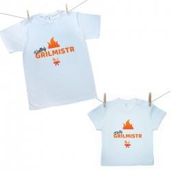 Rodinná sada (tričko s krátkým rukávem) Velký a malý grilmistr