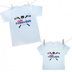 Rodinná sada (tričko s krátkým rukávem) Malý a velký fanoušek