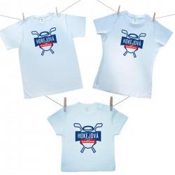 Rodinná sada (tričko s krátkým rukávem) Hokejová rodina