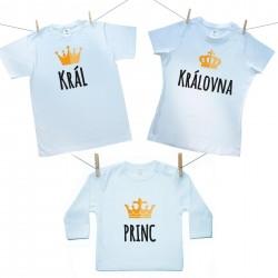 Rodinná sada (tričko s dlouhým rukávem) Rodinná sada Král, Královná, Princ