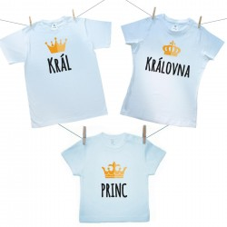 Rodinná sada (tričko s krátkým rukávem) Rodinná sada Král, Královná, Princ
