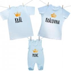 Rodinná sada (dupačky) Rodinná sada Král, Královná, Princ