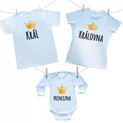 Rodinná sada (body s dlouhým rukávem) Rodinná sada Král, Královná, Princezna