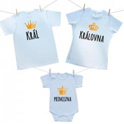 Rodinná sada (body s krátkým rukávem) Rodinná sada Král, Královná, Princezna