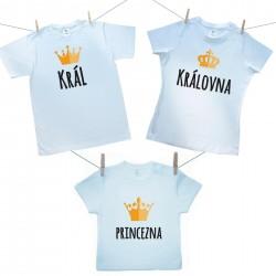 Rodinná sada (tričko s krátkým rukávem) Rodinná sada Král, Královná, Princezna