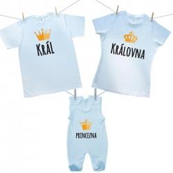 Rodinná sada (dupačky) Rodinná sada Král, Královná, Princezna