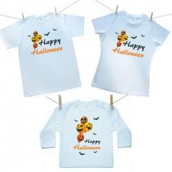 Rodinná sada (tričko s dlouhým rukávem) Happy Halloween
