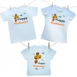Rodinná sada (tričko s krátkým rukávem) Happy Halloween