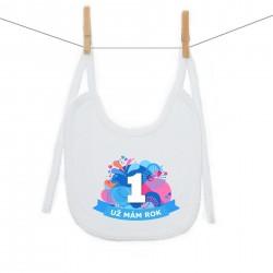 Bryndáček na zavazování Už mám 1 rok Modrá