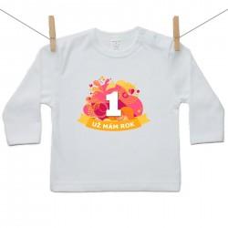 Tričko s dlouhým rukávem Už mám 1 rok Oranžová