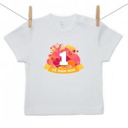 Tričko s krátkým rukávem Už mám 1 rok Oranžová