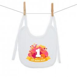 Bryndáček na zavazování Už mám 1 rok Oranžová