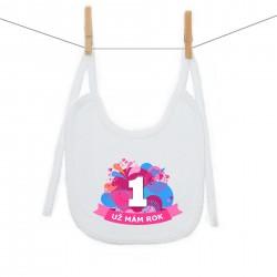 Bryndáček na zavazování Už mám 1 rok Růžová