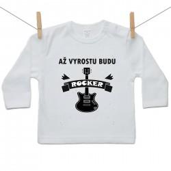 Tričko s dlouhým rukávem Až vyrostu budu rocker