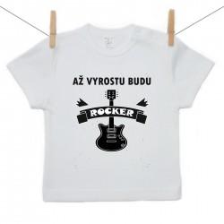 Tričko s krátkým rukávem Až vyrostu budu rocker