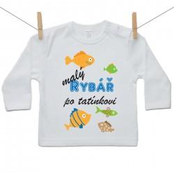 Tričko s dlouhým rukávem Malý rybář po tatínkovi