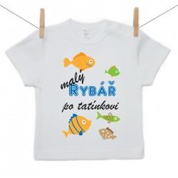 Tričko s krátkým rukávem Malý rybář po tatínkovi