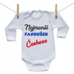 Body s dlouhým rukávem Nejmenší fanoušek Českooo