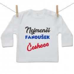 Tričko s dlouhým rukávem Nejmenší fanoušek Českooo