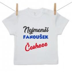 Tričko s krátkým rukávem Nejmenší fanoušek Českooo