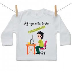 Tričko s dlouhým rukávem Až vyrostu budu programátor