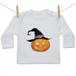 Tričko s dlouhým rukávem Halloween dýně