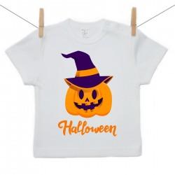 Tričko s krátkým rukávem Halloween dýně