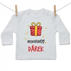 Tričko s dlouhým rukávem Nejkrásnější dárek