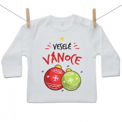 Tričko s dlouhým rukávem Veselé Vánoce