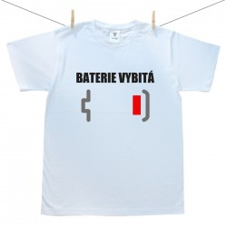 Pánské tričko s krátkým rukávem Baterie vybitá