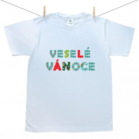 Pánské tričko s krátkým rukávem Veselé Vánoce