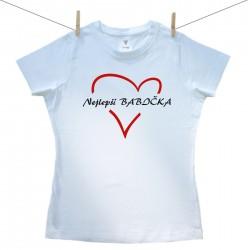 Dámské tričko s krátkým rukávem Nejlepší babička