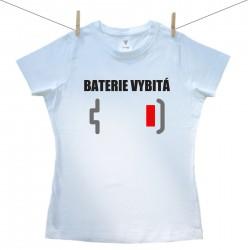 Dámské tričko s krátkým rukávem Baterie vybitá