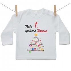 Tričko s dlouhým rukávem Naše 1. spoločné Vánoce