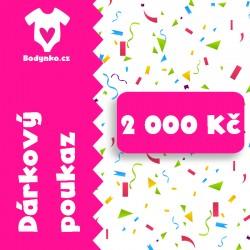 Dárkový poukaz 2 000 Kč